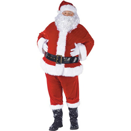 Complete Velour Christmas Santa - Riddler Suit Costume