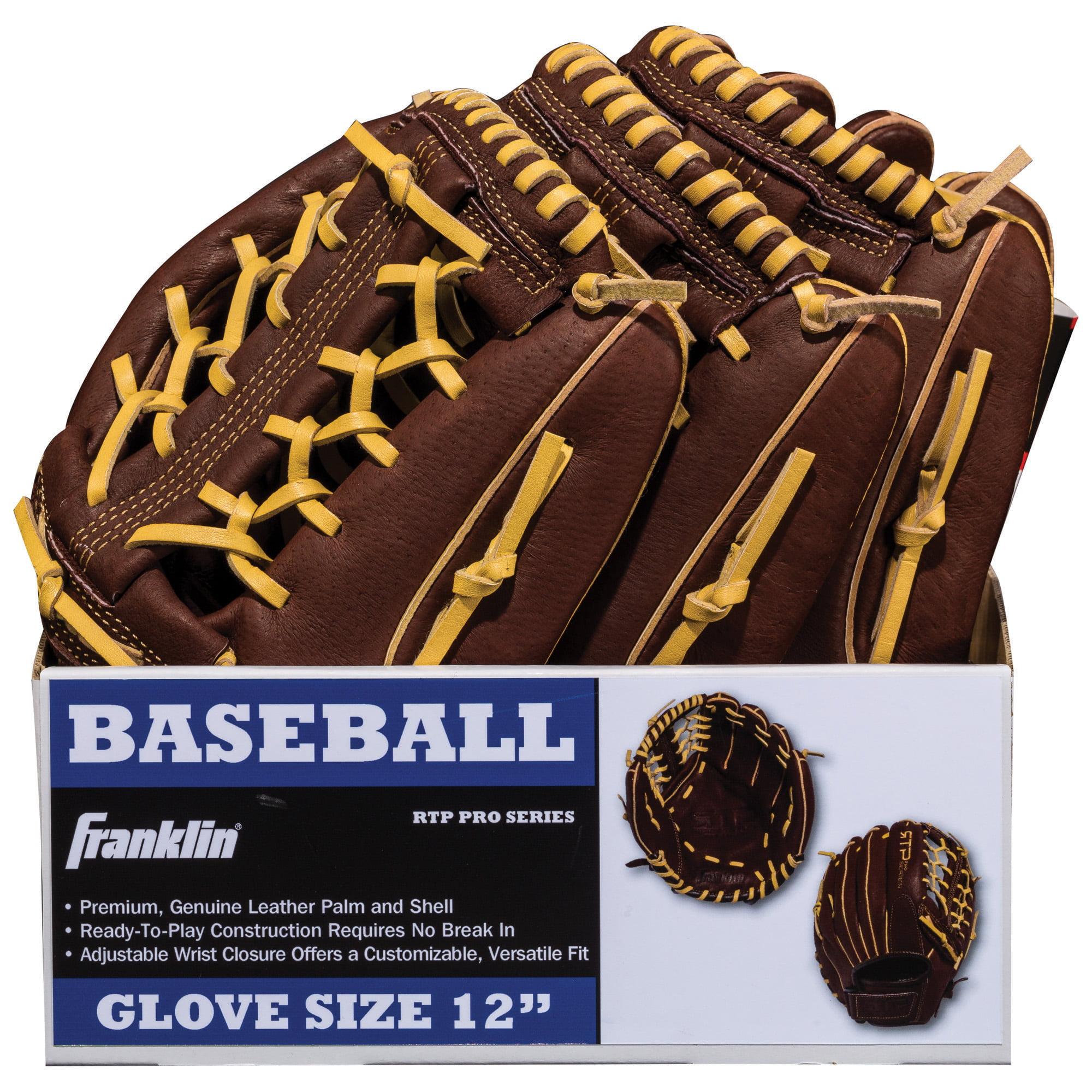 "Franklin 12"" Brown Pigskin Baseball Glove Reg by Franklin Sports"