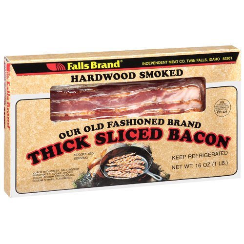 Falls Brand: Bacon Thick Sliced Hardwood Smoked Meat, 16 oz
