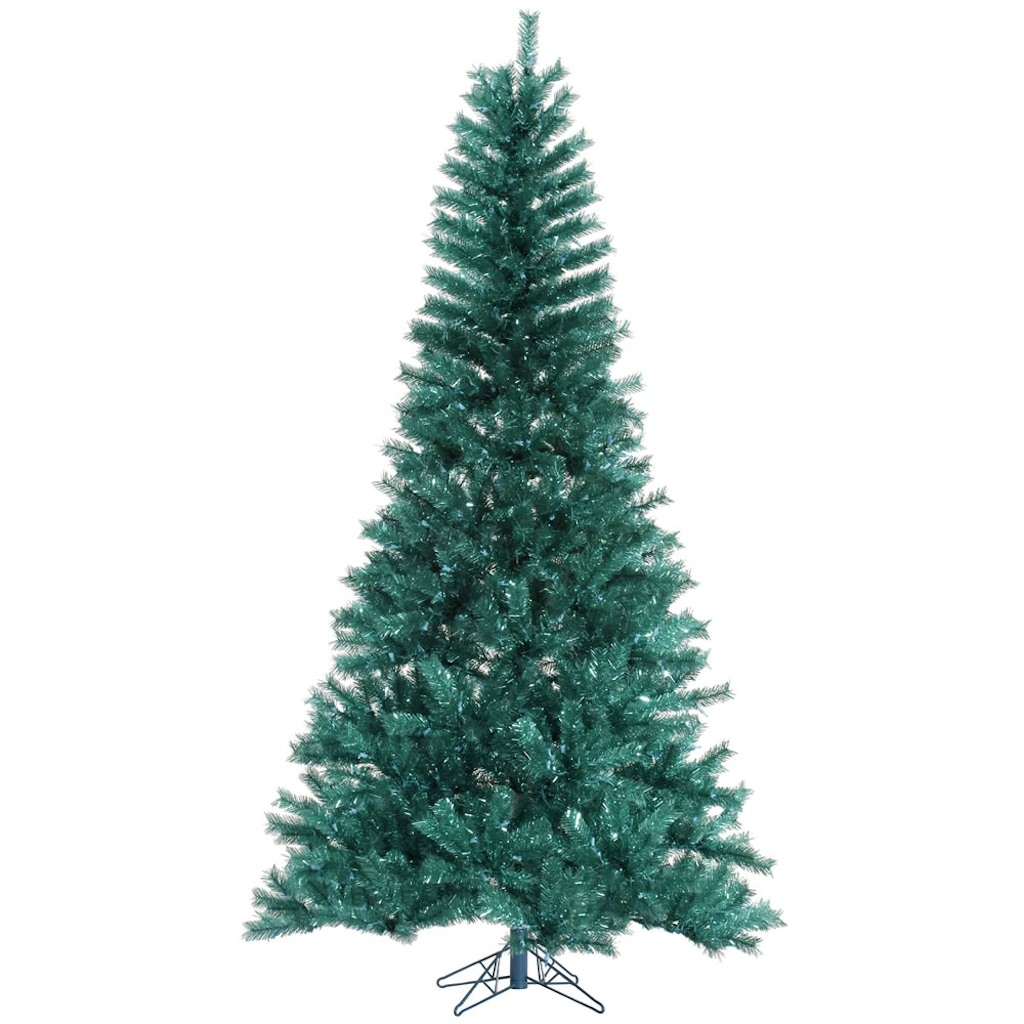 "Vickerman 329436 - 12' x 78"" Aqua Tinsel Christmas Tree (A147290)"