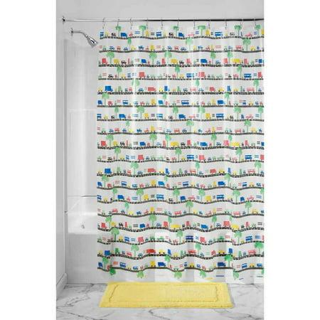 InterDesign Beep Beep Shower Curtain 72 X 72 Bright