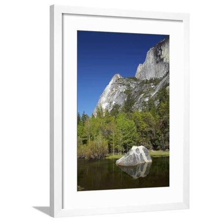 North Face Half Dome - North West Face of Half Dome, and Mirror Lake, Yosemite NP, California Framed Print Wall Art By David Wall