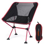 Portable Picnic Camping Chair with Adjustable Height,Folding Backpacking Chairs in a Carry Bag,Heavy Duty 300 lb Capacity for Hiker,Camp,Beach,Fishing,Picnic,Outdoor