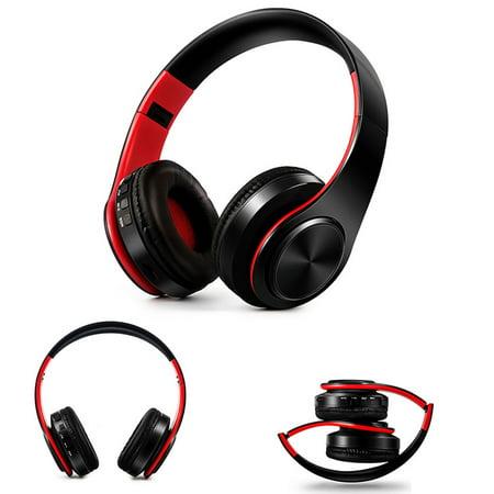 Bluetooth Headphones Over Ear Wireless Noise Cancelling Headphones Foldable Stereo Earphone Super Bass Headset Digital Neck Strap Stereo Earphones