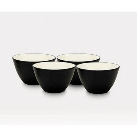 Noritake 4-Inch Colorwave Bowl, Graphite, Set of 4