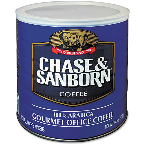 Chase & Sanborn 100% Arabica Gourmet Office Coffee, 34.5 oz