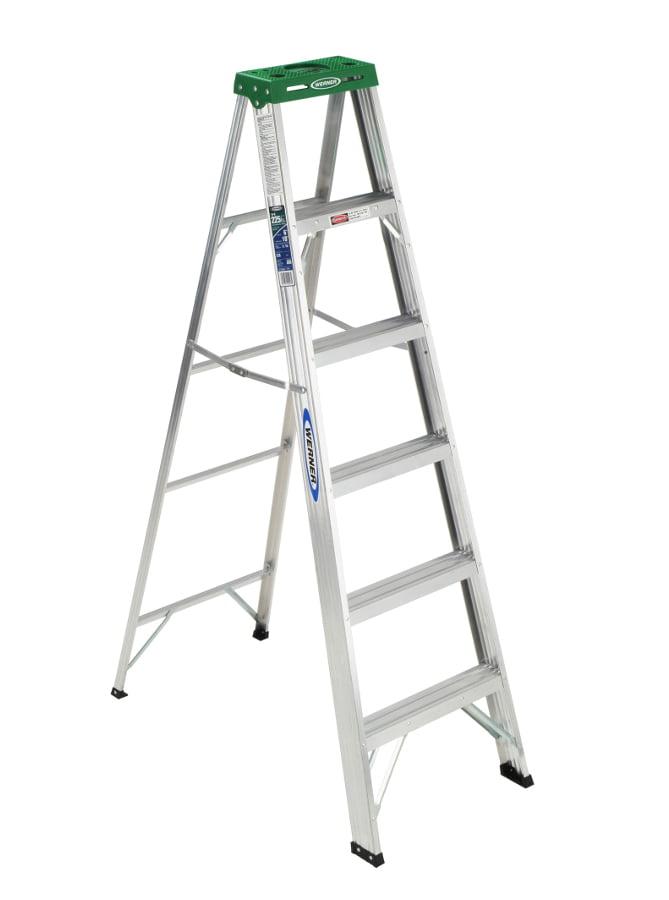 Werner 356 6' Aluminum Step Ladder by Werner