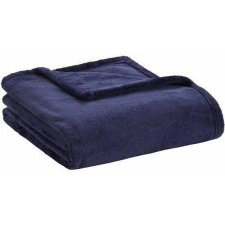 "60""x70"" Microlight Plush Solid Throw Blanket Navy"