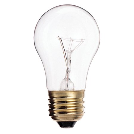 Satco S3870 60W 130V A15 Clear E26 Medium Base Incandescent light bulb (130v Medium Screw Base)