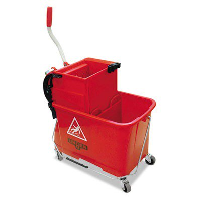 Side-press Restroom Mop Bucket Combo, 4gal, Plastic, Red UNGCOMSR (Restroom Mop)