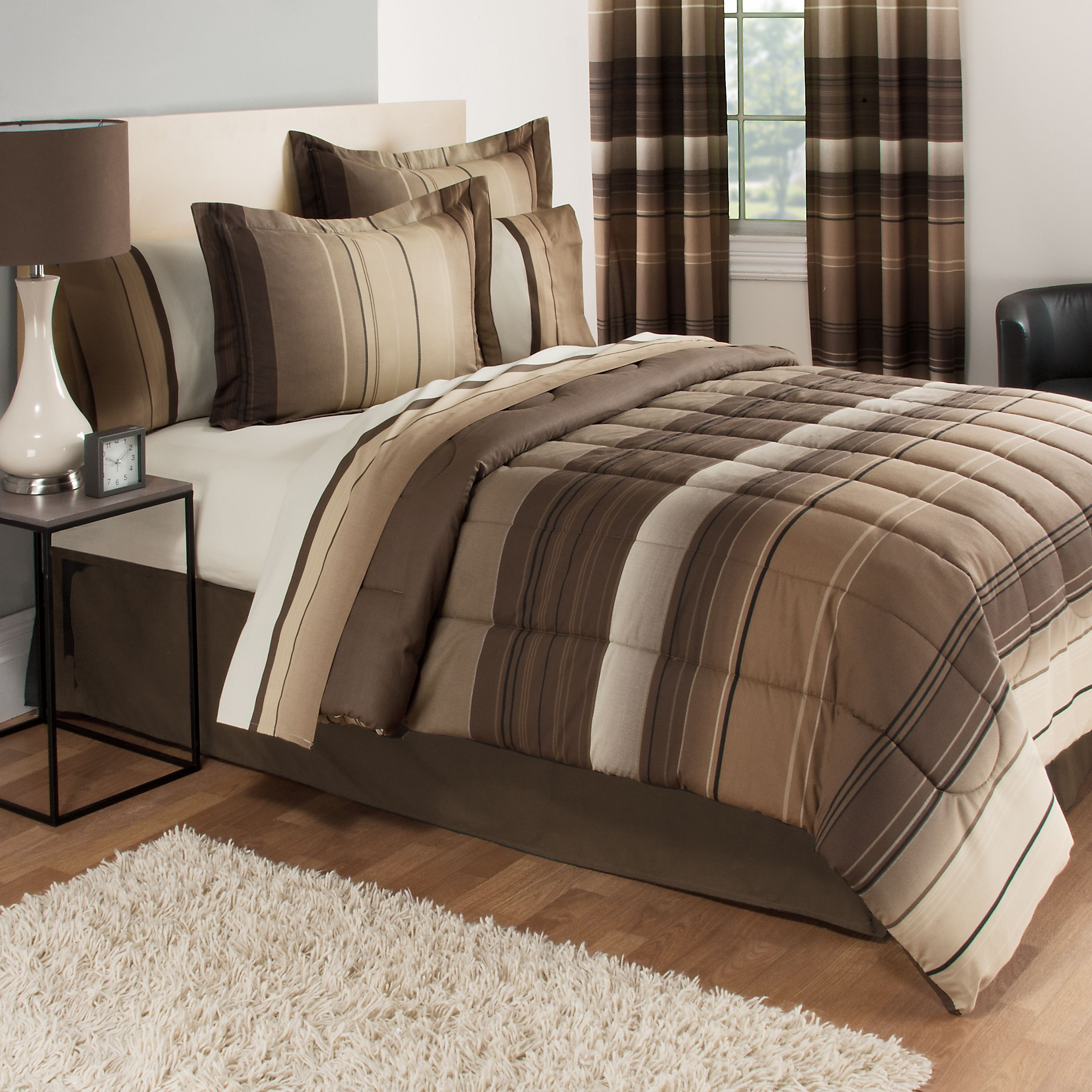Attirant Mainstays Ombre Coordinated Bedding Set With Bedskirt Bed In A Bag