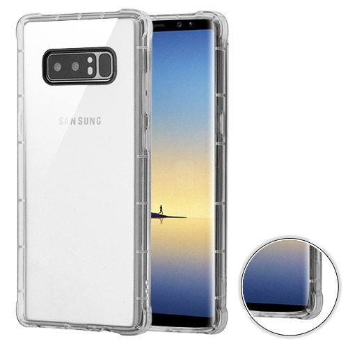 MyBat Rubber TPU Case Cover For Samsung Galaxy Note 8, Clear