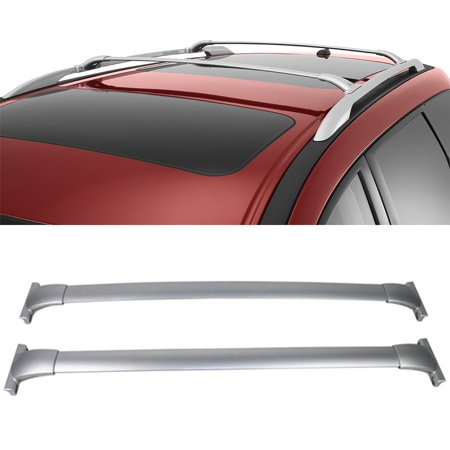 100 Series Top Rail (For 2013-2017 Nissan Pathfinder Silver Aluminum Top Roof Rack Cross Bar Rail)