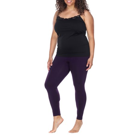 Women's Women's Plus Size Super-Stretch Solid Leggings](Skeleton Leggings Plus Size)