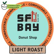 SF Bay Coffee Donut Shop 80 Ct Medium Roast Compostable Coffee Pods, K Cup Compatible including Keurig 2.0