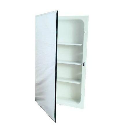 Recessed Plastic Medicine Cabinet, White, 16X20 In.