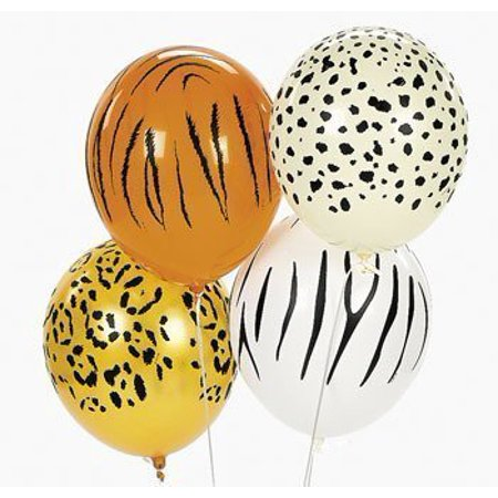 Jungle Animal Print Safari Balloons (50PC) By 5StarTD](Safari Balloons)