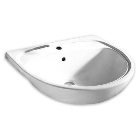 - American Standard Mezzo Drop In Clay Bathroom Sink 9960.001.020 White