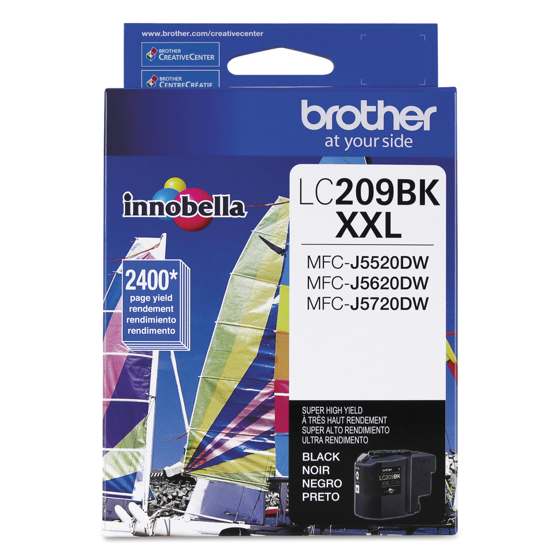 Brother LC209BK Innobella Super High-Yield Ink, Black