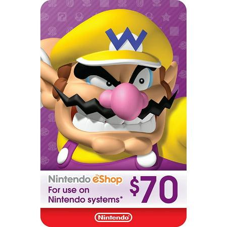 eCash - Nintendo eShop Gift Card $70 (Digital (Digital Gift Certificates)
