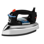 BLACK+DECKER Classic Iron with Aluminum Soleplate, Black/Stainless Steel, F67E-2