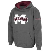 Mississippi State Bulldogs Stadium Athletic Youth Big Logo Pullover Hoodie - Charcoal
