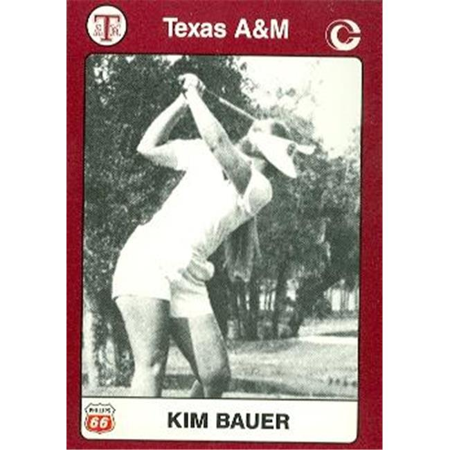 Kim Bauer Golf Card (Texas A&M) 1991 Collegiate Collection No.92