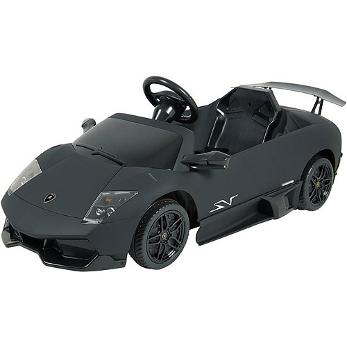 Kalee 12V Lamborghini Murcielago Ride-On Car, Flat Black