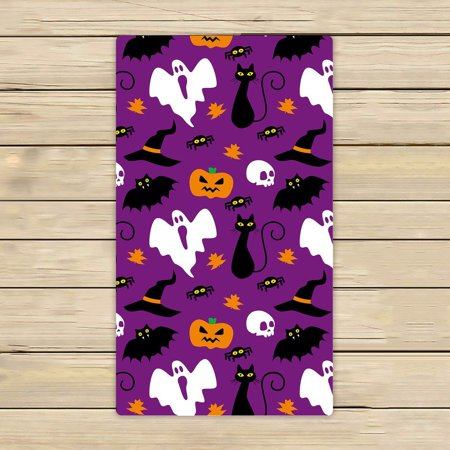 GCKG Funny Hallowen Time Ghost Pumpkin Halloween Beach Towel Shower Towel Wrap For Home and Travel Use Size 16x28 inches (Funny Pumpkin Ideas For Halloween)