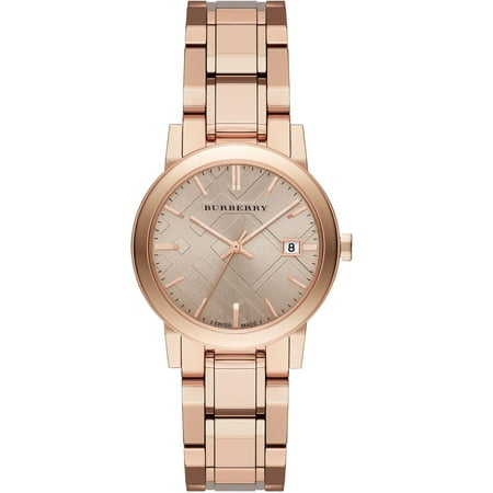Burberry  BU9135 Brown / Rose Gold Stainless Steel Analog Quartz Women's Watch (Pink Sapphire Watch)
