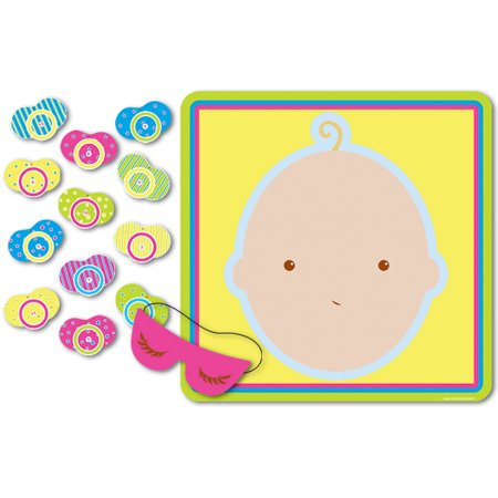Simple Baby Shower Games (Beistle 66675 Pin The Pacifier Baby Shower Game, 17 in. x 18.5)