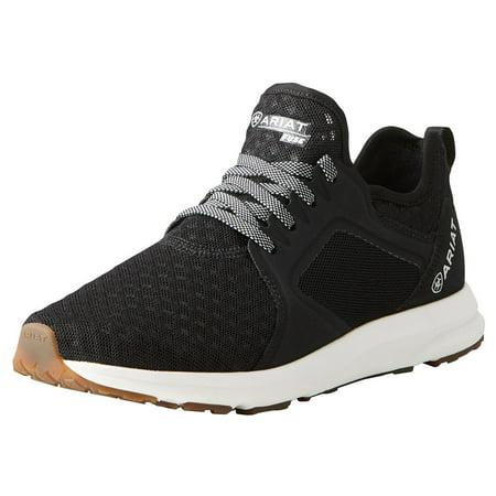 Nrs Footwear Womens  Fuse Black Mesh Gym Shoe