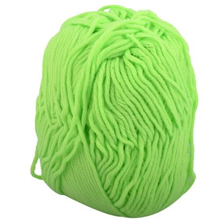 Acrylic Fiber Handmade Sweater Scarf Knitting Yarn Cord Rope Light Green 50g - Acrylic Sweaters