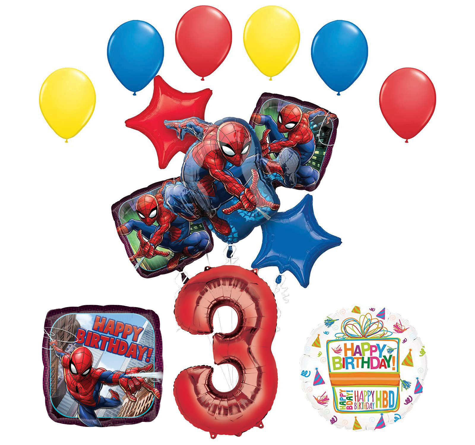 The Ultimate Spider-Man 3rd Birthday Party Supplies and Balloon Decorations