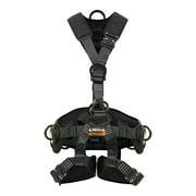 Fusion Climb Tac Rescue Tactical Full Body 3D EVA Padded Heavy Duty Adjustable Zipline Harness 23kN M-L Black