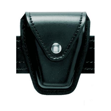 Safariland Duty Gear Flap Top Chrome Snap Basketweave Handcuff Case (Black) - 190-4 - Safariland