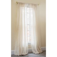 Manor Luxe Luxembourg Striped Sheer Rod pocket Single Curtain Panel