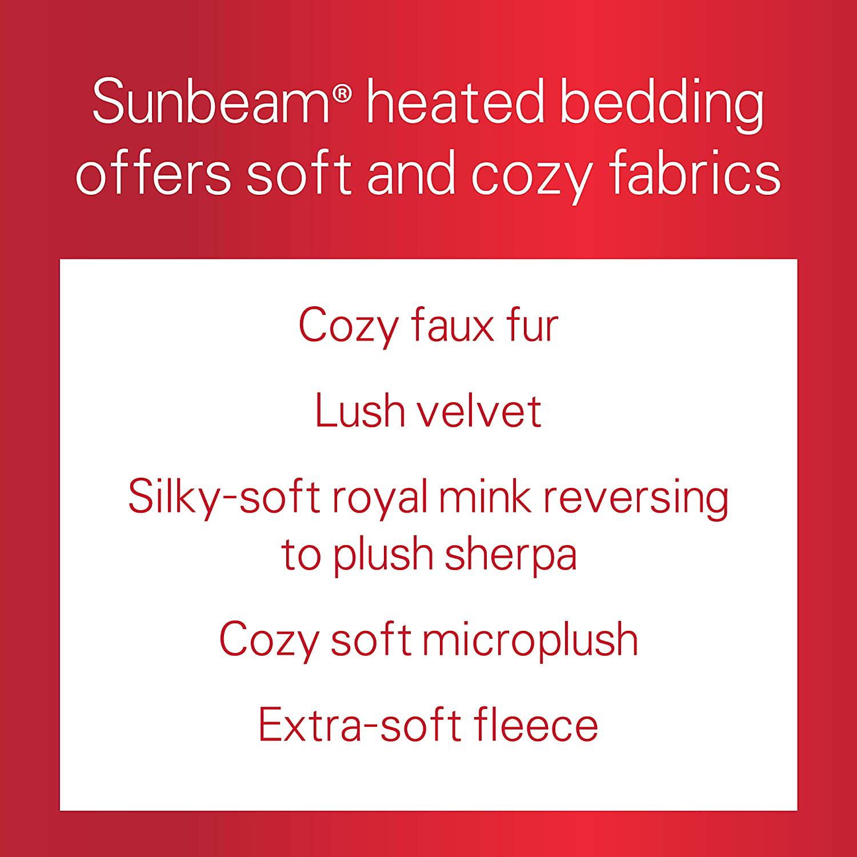 Sunbeam Heated Throw BlanketMicroplush Tsm8Ts-R470 Walnut 3 Heat Settings