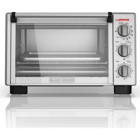 BLACK+DECKER 6-Slice Convection Countertop Toaster Oven, Stainless, TO2055S