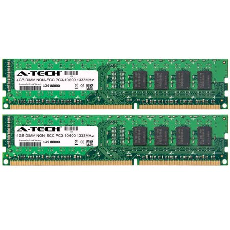 8GB Kit 2x 4GB Modules PC3-10600 1333MHz NON-ECC DDR3 DIMM Desktop 240-pin Memory