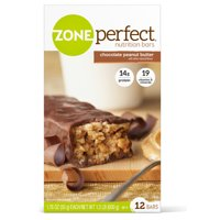 ZonePerfect Protein Bars, Chocolate Peanut Butter, High Protein, With Vitamins & Minerals (12 Count)