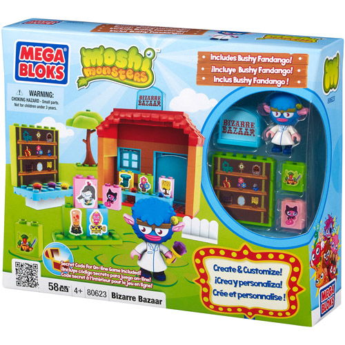 Mega Bloks Moshi Monsters Bizarre Bazaar Play Set