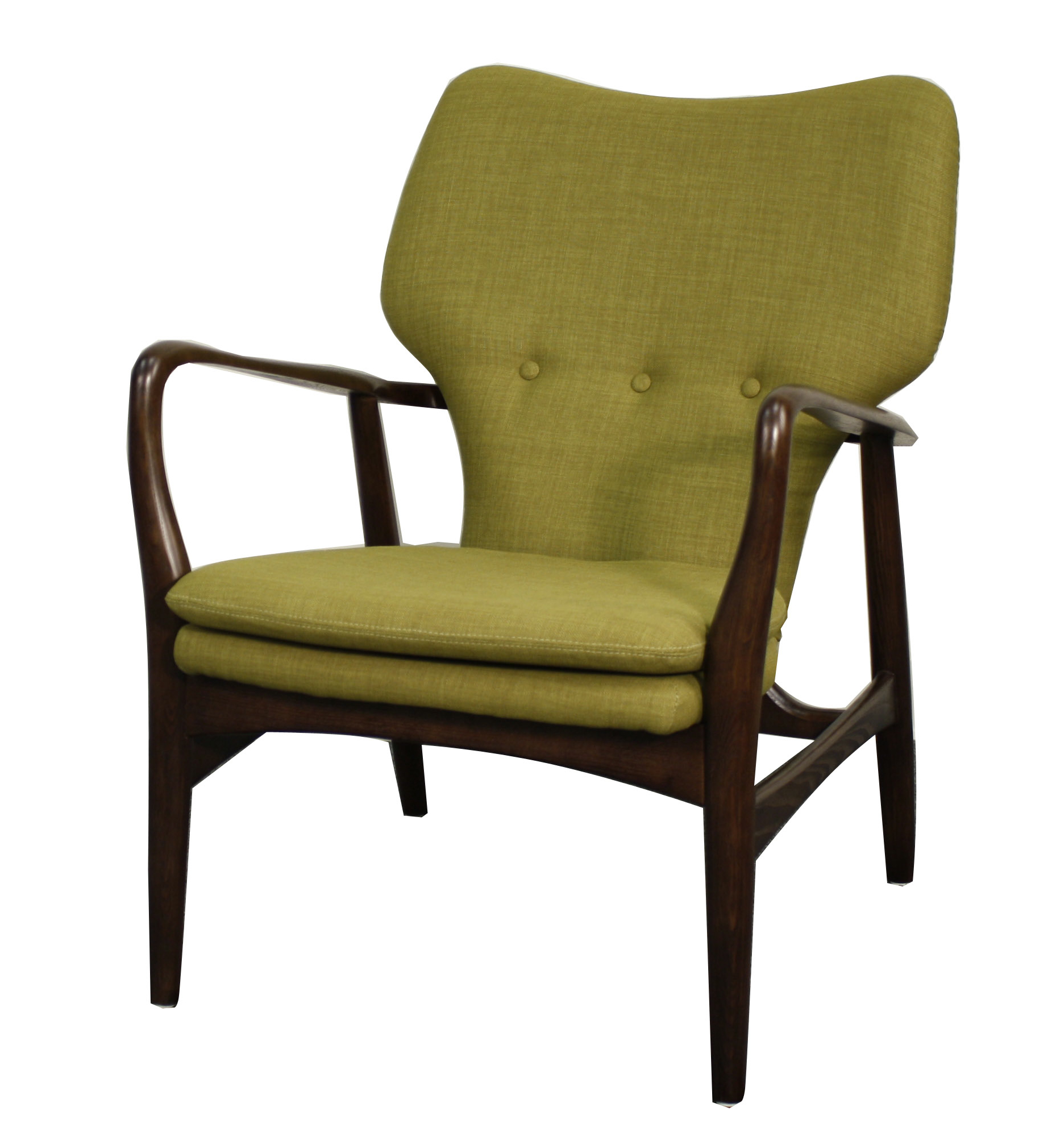 Colin Fabric Leather Arm Chair, Multiple Colors
