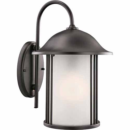 "Design House 516799 Hannover Outdoor Downlight, 9"" x 14"", Black Finish"
