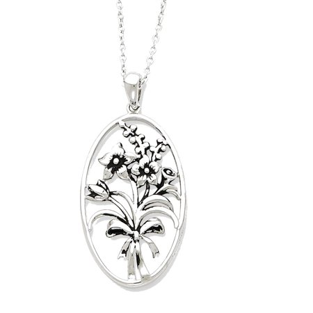 Sterling Silver Antiqued I Celebrate The Day You Were Born 18in - Celebrate Express