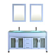Kokols Amriel 63'' Double Bathroom Vanity with Mirror