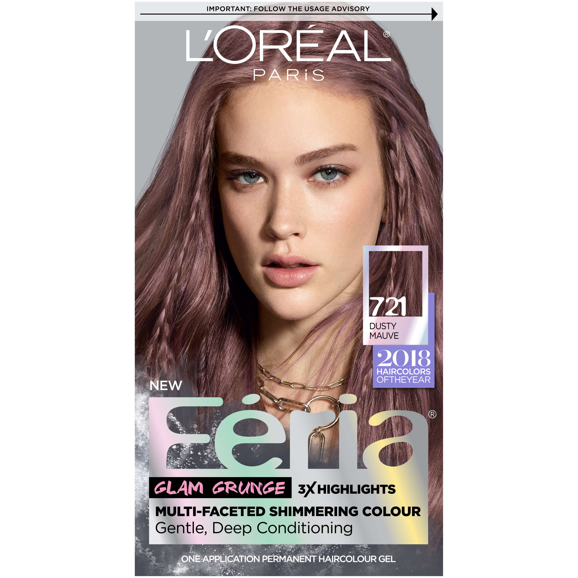 L Oreal Paris Feria Permanent Hair Color 721 Dusty Mauve