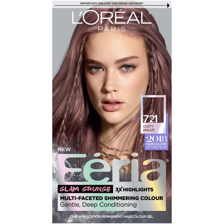 l oreal paris feria permanent hair color 721 dusty mauve walmart com
