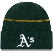 Oakland Athletics New Era Primary Logo On-Field Sport Cuffed Knit Hat - Green - OSFA