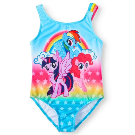- Rainbow Ponies One-Piece Swimsuit (Little Girls)